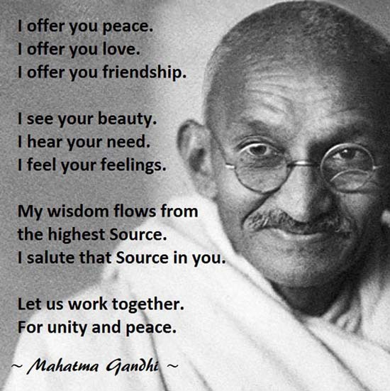Gandhi on Peace