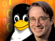 Linus Torvalds , padre del S.O. Linux immagine internet