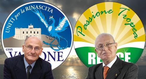Gaetano Vallone e Adolfo Repice - fotocomposizione Libertino