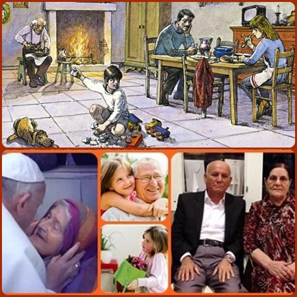 """Papa Francesco: """"Quante volte si scartano gli anziani con atteggiamento di abbandono che sono una vera e propria eutanasia, con la pretesa di mantenere un sistema economico equilibrato al centro del quale c'è il dio denaro: siamo tutti chiamati a contrastare questa velenosa cultura dello scarto, i cristiani con tutti gli uomini di buona volontà chiamati a costruire una società più umana, paziente e inclusiva"""""""