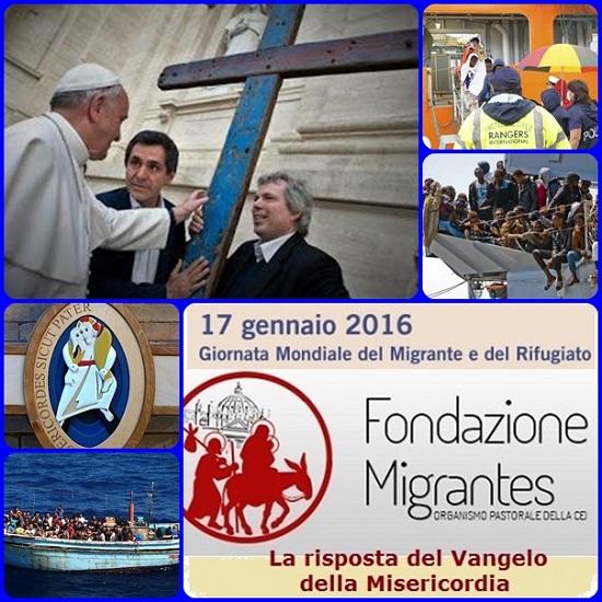 Migranti e rifugiati ci interpellano. La risposta del Vangelo della Misericordia: questo è il tema che Papa Francesco ha voluto dare alla 102a Giornata Mondiale del Migrante e del Rifugiato, che ricorre oggi domenica 17 gennaio 2016, in cui si celebra anche il Giubileo dei migranti.