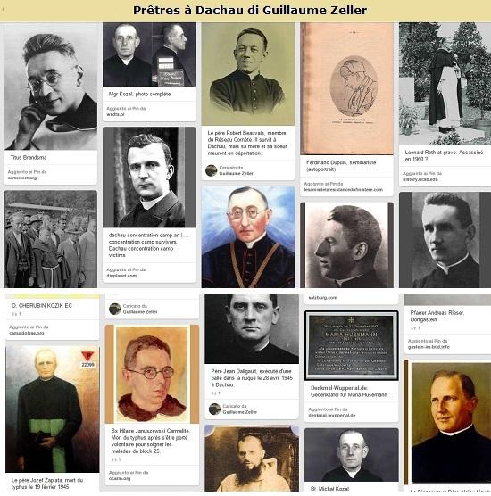 Dal 1938 al 1945 ben 2.720 sacerdoti cattolici sono stati internati a Dachau, campo di sterminio vicino Monaco di Baviera, Di quei sacerdoti deportati 1.034 morti lì.