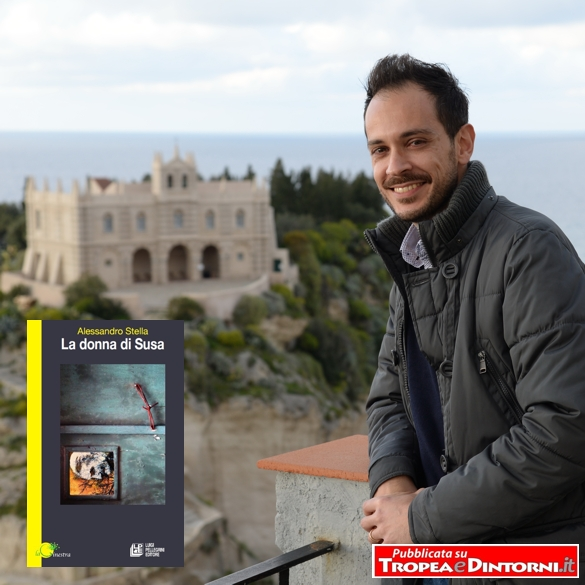 L'autore e la copertina del libro - foto Libertino