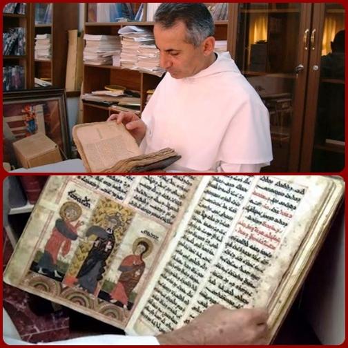 Padre Najeeb Michael, domenicano iracheno, intento a salvare il patrimonio religioso cristiano.