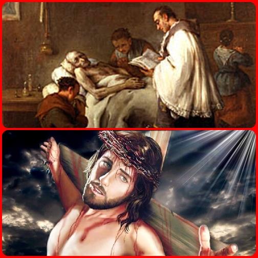 Gesù crocifisso continua ad essere il conforto dei perseguitati e dei falliti della vita.  Con il crocifisso in mano si può valicare ogni frontiera, anche quella dell'eternità.