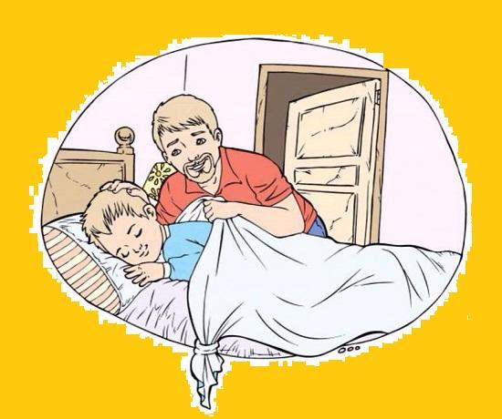 """""""Quando mio figlio si sveglia e vede il nodo, sa che suo padre è stato lì e lo ha baciato. Il nodo è diventato il mezzo di comunicazione tra noi""""."""