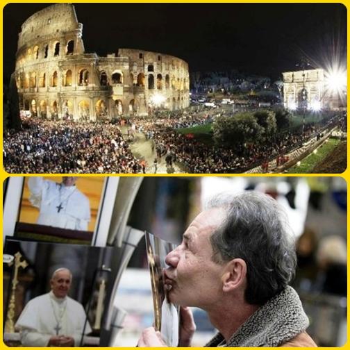 Venerdì Santo, negli stessi momenti in cui si stava svolgendo la Via Crucis, l'elemosiniere del Papa, mons. Konrad Krajewski e il capo ufficio, mons. Diego Ravelli, hanno portato ai poveri di Roma un segno di vicinanza da parte del Santo Padre.
