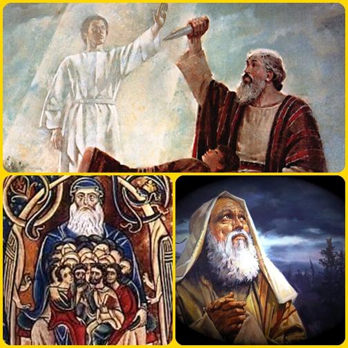 Il Patriarca Abramo, ritenuto da tutti il padre nella fede. E davvero Abramo è riconosciuto Padre dei credenti dalle tre grandi religioni monoteiste (ebrei, cristiani, musulmani).