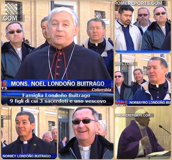I Londoño Buitrago sono una famiglia po' speciale in Colombia. Una famiglia con 9 figli, di cui quattro sono diventati sacerdoti e di questi uno è diventato vescovo, il redentorista P. Noel. Per celebrare il 25° anniversario dell'ordinazione dell'ultimo, Norbey, hanno deciso di venire a Roma.