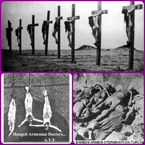Il genocidio degli armeni non è più un'opinione. È un fatto storico. Un incontestabile, atroce accadimento storico. Anche Papa Francesco ha parlato considerandolo a tutti gli effetti il primo genocidio del Novecento. Molta documentazione dotografica mostra  il massacro di bambini e donne cristiane armene.