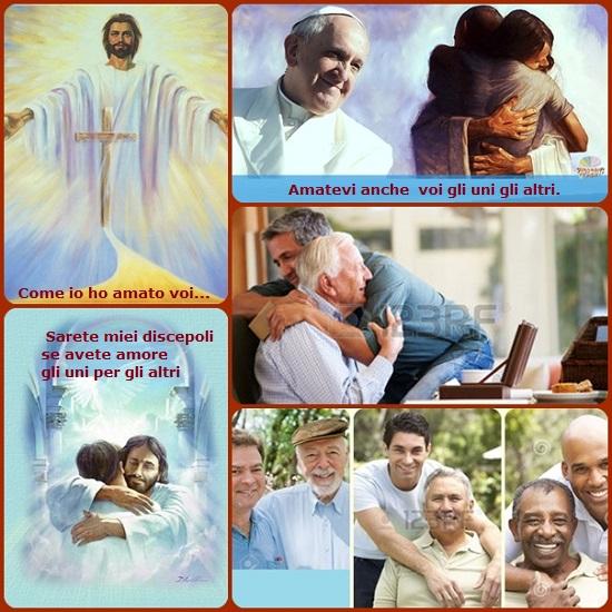 Gesù ha lasciato un comandamento nuvo: «Amatevi gli uni gli altri». L'amore fraterno fa «nuove tutte le cose» e rivela il vero volto di Dio. L'amore rivela la forza della resurrezione. Perciò bisogna dirselo: con le parole, con i gesti, con la gioia. A cominciare da chi ti sta più vicino, anche dai propri familiari.