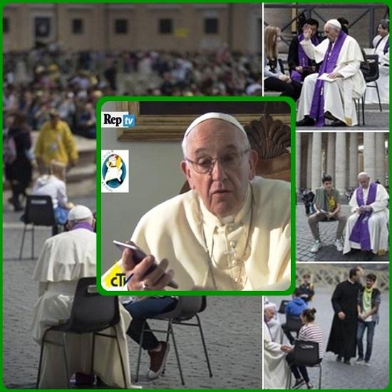 Papa Francesco ha incontrato oltre 60.000 ragazzi venuti a Roma per il loro Giubileo: li ha incontrati in massa e li ha voluto incontrare personalmente, nel sacramento della Riconciliazione. Ancora una volta, il Buon Pastore è andato in cerca delle sue pecorelle.