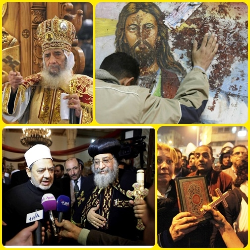 Egitto: sorge una chiesa copta grazie a donazioni di musulmani. - La solidarietà dei credenti islamici dovuta anche all'ondata di commozione per le stragi di copti compiute in Libia da jihadisti dell'Isis