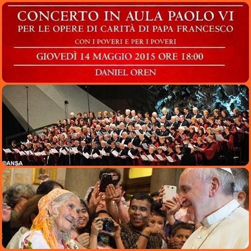 Grande emozione in Aula Paolo VI per i duemila poveri che hanno partecipato al concerto per le opere di carità di Papa Francesco. E' stato il maestro Daniel Oren a dirigere l'Orchestra Filarmonica Salernitana e il Coro della Diocesi di Roma. Particolare l'omaggio a Dante nei 750 anni dalla sua nascita.