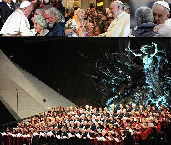 Papa Francesco, con rara sensibilità, ha voluto offrire ai poveri, invitati in prima fila, la possibilità di una ascensione dell'anima e dell'intera persona attraverso la bellezza della musica, con un grande Concerto, organizzato per loro  per loro e finalizzato alle opere di carità.