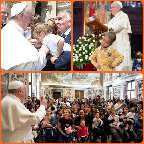"""Papa Francesco insiste molto sulla famiglia nelle sue catechesi. E non in maniera retorica, ma contestuale ai problemo che l'assillano e con un linguaggio concreto. Perché la famiglia sia solida e felice ecco la sua ricetta in 3 parole: """"permesso, scusa, grazie""""."""