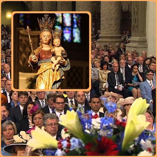 """nel cuore della vecchia Europa, chiamata ugentemente a rinnovarsi, una piccola nazione come il Lussemburgo celebra il Giubileo della sua celeste Patrona """"Maria Consolatrice degli afflitti"""". Le radici cristiane di questa nazione, piantate in una secolare tradizione mariana, la rendono più attraente e accogliente in questo impegnativo passaggio epocale nel quale l'Europa sembra giocarsi il futuro."""