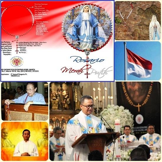 Il rosario bianco e rosso (colori della bandiera indonesiana) è parte dell'impegno dell'arcidiocesi a rafforzare l'amore verso la nazione tra i cattolici: «Il rosso simboleggia la volontà di difendere la verità basata sulla fede nella Trinità; il bianco si riferisce alla santità».