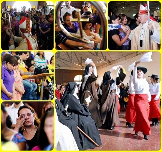 Le suore di sei istituti di Santiago del Cile hanno fatto visita, domenica 22 maggio, alle ospiti del penitenziario femminile San Joaquín, allietandole con canti, danze e giochi. Una iniziativa sorprendente e densa di significato: si può essere libere e felici anche dietro le sbarre, perché Dio è ovunque.