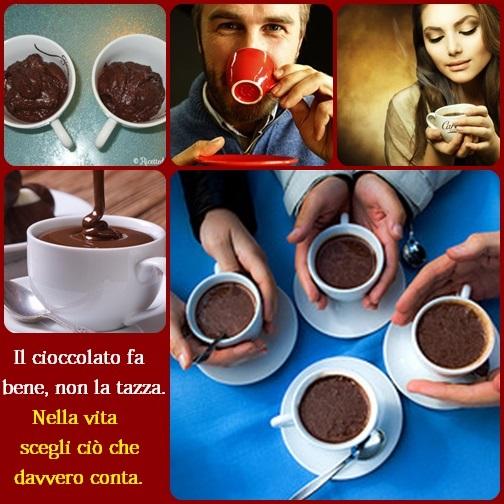 La vita è il cioccolato caldo... il lavoro, il denaro, la posizione nella società sono le tazze. Le tazze sono solo contenitori per accogliere e contenere la vita. Pertanto è più importante apprezzare il cioccolato caldo che Dio ha dato e non la tazza.
