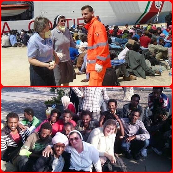 Siracusa - Regalano abbracci, ma solo ai migranti. E' la missione di Suor Teresinha Santin e a Suor Angjelina Preci