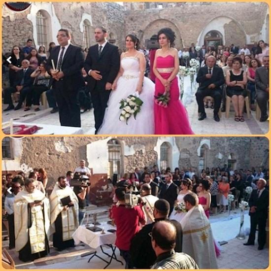 Homs, Siria: quando l'amore è più forte della guerra… matrimonio nella chiesa distrutta. Fa grandissima tenerezza guardare due giovani che si sposano nella chiesa semidistrutta dai bombardamenti in Siria.