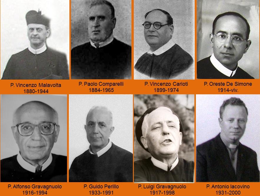 Una serie di Padri e Superiori Redentoristi con i quali è stato in rapporto di lavoro e di amicizia Mastro Pasquale.