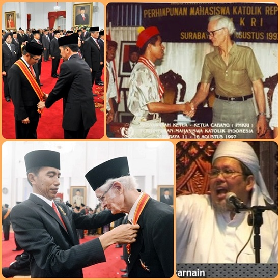 Indonesia: a due missionari gesuiti è stato conferito il prestigioso premio Mahaputera 2015 nonostante abbiano di frequente criticato lo Stato per difendere la povera gente nei suoi diritti. Questo Paese, inoltre, è a forte densità musulmana. - Un segno di possibile e pacifica convivenza di religioni.