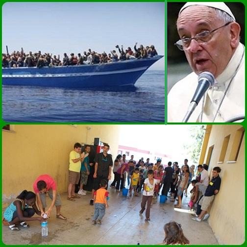 Parrocchie e Caritas italiane si sono mobilitate per i profughi: da Milano a Cagliari, da Genova a Reggio Calabria, centinaia di volontari insieme ai parroci e ai vescovi coordinano gli aiuti. Le parole di Papa Francesco non cadono nel vuoto.