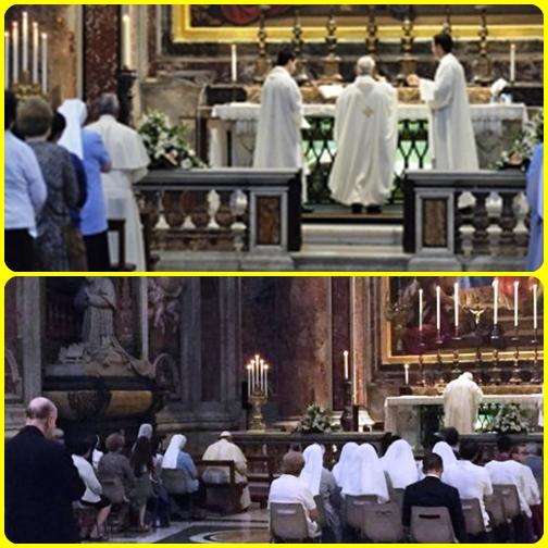 Papa Francesco  21 agosto con un nuovo `fuoriprogramma´, ha deciso di mescolarsi ad altri fedeli per la messa nella basilica di San Pietro. L'occasione era la festa liturgica di San Pio X, Papa Sarto, al quale papa Bergoglio è molto devoto.