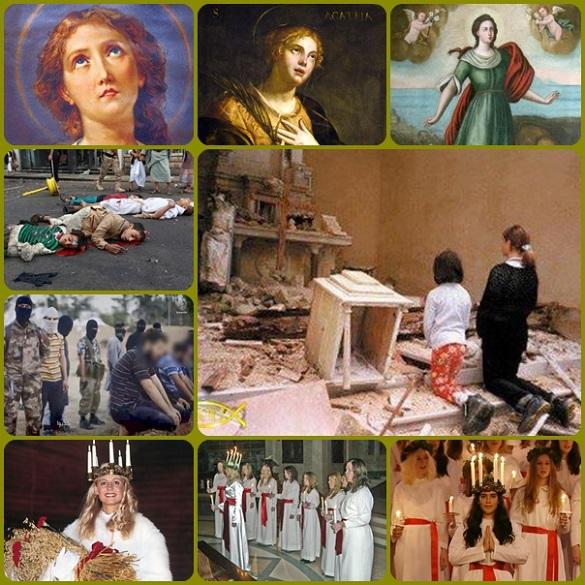 """Il mondo onora i martiri, quelli veri e non i fanatici che si proclamano martiri, togliendo la vita agli altri. Quattro adolescenti in Iraq si sono rifiutati di dire """"Allah è l'unico Dio e Maometto il suo profeta"""", proclamando la loro  fedeltà a Gesù e sono stati uccisi. Contro questa inaccettabile violenza e ogni forma di schiavitù si è levata coraggiosamente la voce di Papa Francesco e di rappresentanti di altre confessioni religiose."""
