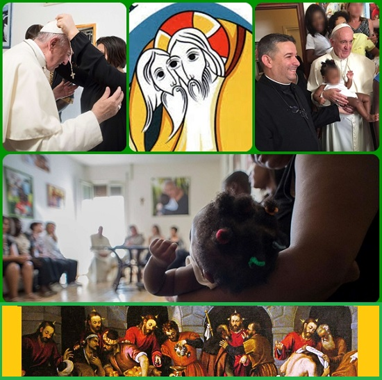 12 agosto 2016, un venerdì della misericordia di questo anno santo straordinario. Papa Francesco ha voluto incontrare e abbracciare venti donne liberate dal racket della prostituzione e attualmente ospitate in un complesso condominiale di Via Pietralata a Roma.