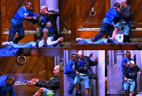 La drammatica sequenza che riporta l'intervento coraggioso ed eroico di Erasmo Francisco Rodrigues sul sequestratore, che gli spara senza pietà.