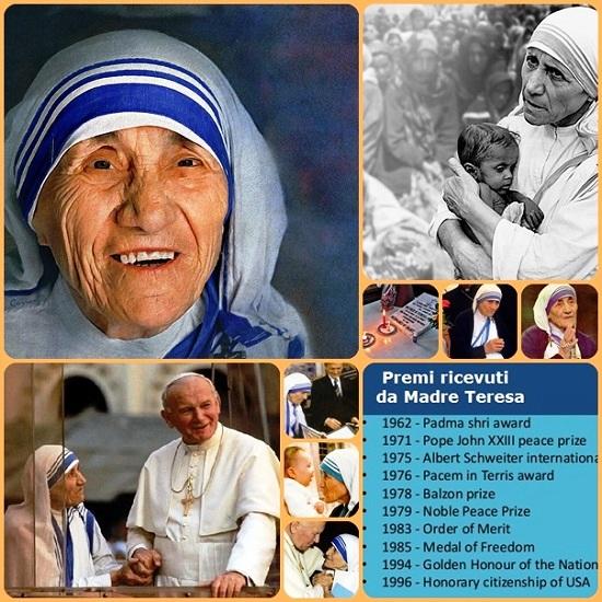 Madre Teresa di Calcutta verrà santificata domenica prossima 4 settembre 2016, esattamente un giorno prima del 19° anniversario della sua morte avvenuta a Calcutta il 5 settembre 1997. Ella sarà davvero una santa universale; la santa dell'umanità.