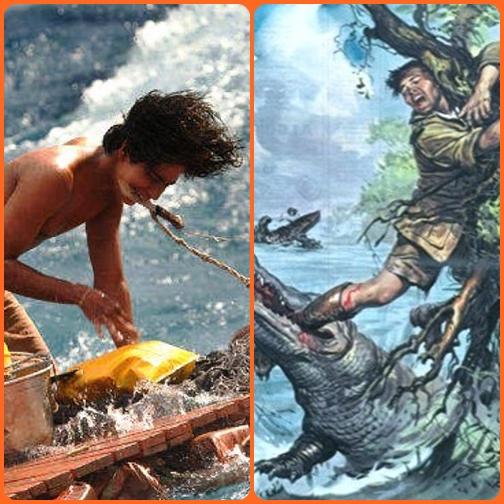 """""""Ormai tutto per me era finito: mi raccomandai a Dio. Ma dalla sponda mi aveva visto un ragazzo papuano, Giovanni Warupi, di 14 anni. Si gettò coraggiosamente nell'acqua, con sforzi immani riuscì a salvarmi e a trascinarmi sulla sponda."""""""