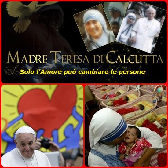 """""""Quanti si pongono al servizio dei fratelli, benché non lo sappiano, sono coloro che amano Dio"""". Madre Teresa si è chinata sulle persone sfinite, lasciate morire ai margini delle strade, riconoscendo la dignità che Dio aveva loro dato,"""