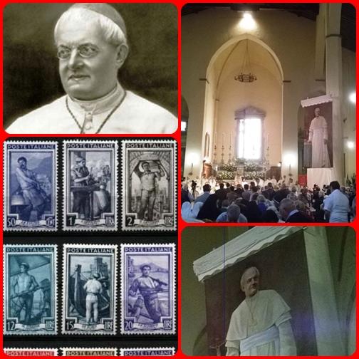 19 settembre 2015 - San Miniato  (FI) - Beatificato il vescovo Pio Alberto del Corona: un giorno non avendo nulla da offrire a un bisognoso, dette i suoi francobolli per le lettere, perché li rivendesse.