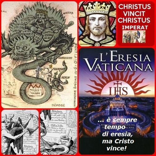 L'eresia è sempre in giro, perché è figlia figlia del fanatismo e dell'ipocrisia. Ma Cristo veglia sulla sua Chiesa.