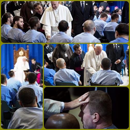 Papa Francesco domenica mattina 27 settembre, è entrato nel carcere Curran-Fromhold di Philadelphia. Ha parlato a sessantotto di loro, tra cui undici donne, alcuni con condanne per reati gravi, come l'omicidio. E si è seduto sulla sedia di legno che i detenuti hanno costruito per lui.