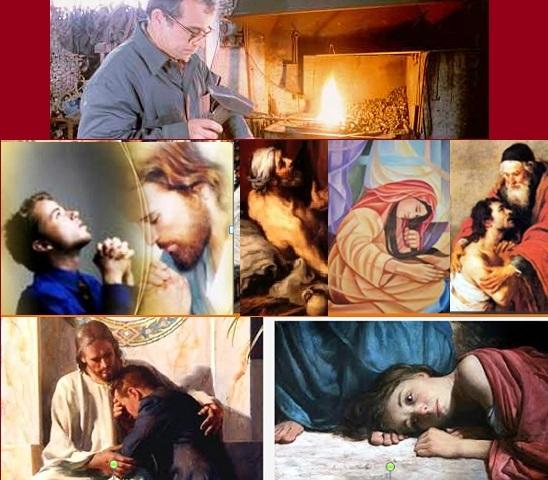 Ancora oggi i peccati della Maddalena, della Samaritana, del figlio prodigo, di Pietro, del buon ladrone, i nostri stessi peccati, immersi nel braciere della misericordia di Dio, cantano a tutti gli uomini la Sua misericordia.