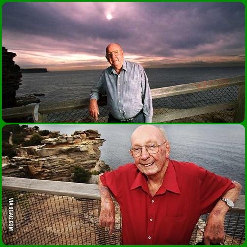 """Don Ritchie, l'Angelo del """"The Gap"""", l'uomo australiano che in oltre 40 anni ha salvato 160 persone che volevano suicidarsi gettandosi dalla cima della scogliera detta """"The Gap""""."""