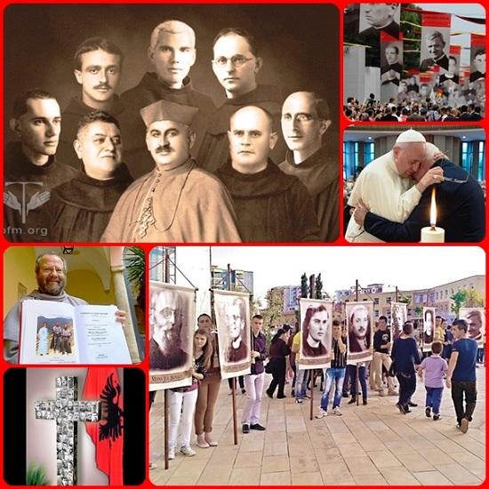 Il 5 novembre 2016 a Scutari, Albania, c'è stata la Beatificazione di 38 martiri vittime del comunismo: due vescovi, 21 sacerdoti diocesani, 7 francescani, 3 gesuiti, un seminarista e 4 laici. Lo'ra della memoria dolorosa, ma anche l'ora della grazia!