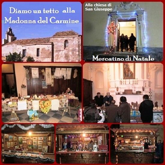 Continua la raccolta fondi per la ristrutturazione del tetto della chiesa della madonna del Carmine in Tropea. L'occasione la danno i mercatini di Natale aperti giorno 5 dicembre nel centro di Tropea.