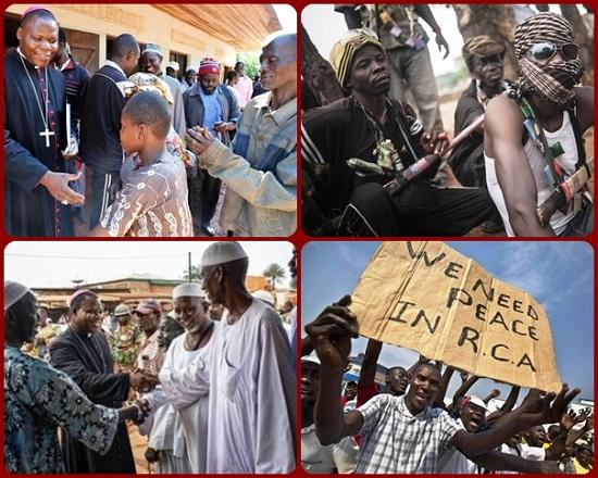 """Nzapalainga afferma che """"sono per primi i musulmani a dire 'il Papa è venuto, vogliamo la pace, non vogliamo più la guerra'. Il Papa ha segnato profondamente la comunità musulmana. È significativo che i giovani musulmani del quartiere PK5 abbiano deposto le armi per parlare con i loro fratelli cristiani""""."""