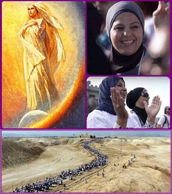L'Avvento delle donne - In Israele, la Marcia delle donne. Cristiane, ebree e musulmane cantano la preghiera delle Madri: madri e donne di tutte le religioni si ritrovano insieme a cantare, ognuna secondo la sua tradizione e cultura, ma unite dal desiderio di costruire insieme una convivenza possibile. Tempi nuovi. Avvento di pace.