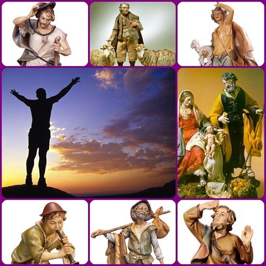 """Quel pastore nel presepe che guarda il cielo richiama la vocazione di Abramo: """"Esci dalla tua terra..."""" e diventa un appello a tutti di mettersi in viaggio dopo aver scrutato con meraviglia i disegni di Dio, dove il piccolo diventa immenso."""