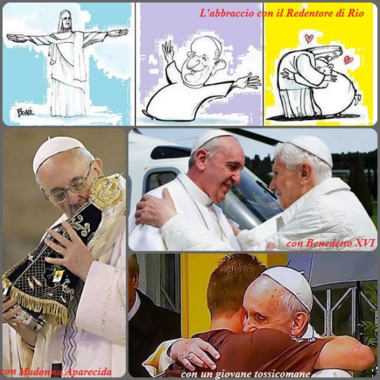 Gli abbracci di Papa Francesco portano una fresca ventata di umanità e di accoglienza: la tenerezza, insieme ad un reale rispetto della dignità dell'altro, è la chiave per costruire una umanità rinnovata.