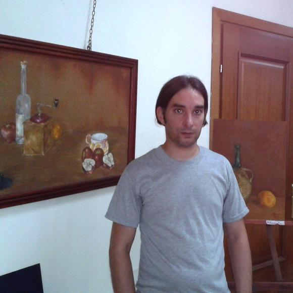 Antonio Pata nella Biblioteca Comunale Tropea - foto Apriceno