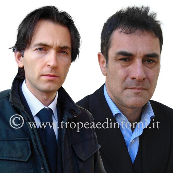 I consiglieri comunali di Tropea Francesco Antonio Arena e Roberto Scalfari - foto Libertino