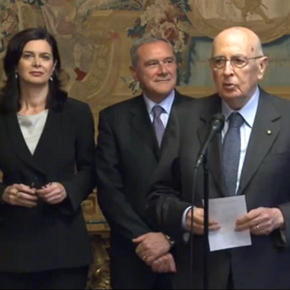 Laura Boldrini, Piero Grasso, Giorgio Napolitano